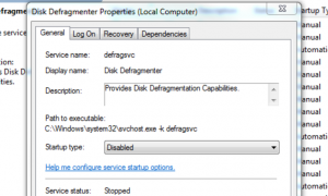 Disable defragmentation